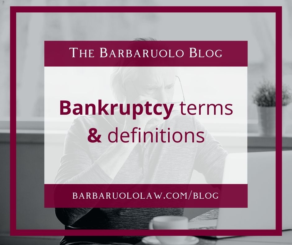 bankruptcy terms and definitions