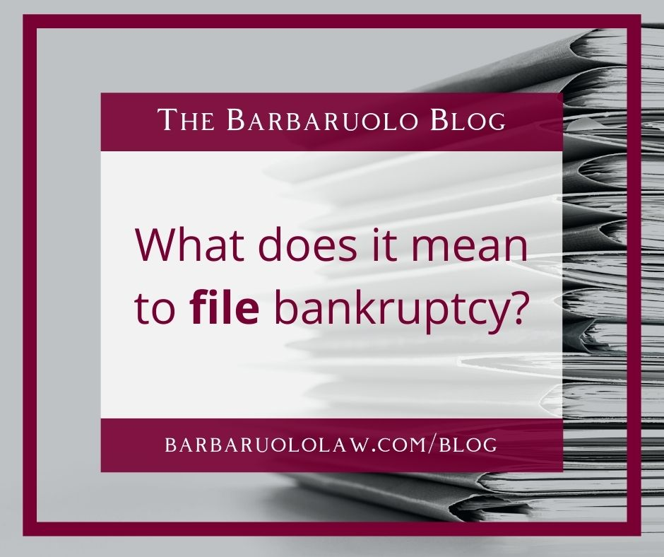 what does it mean to file for bankruptcy